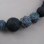 YOJ10-09 Felt & Crochet Bead Necklace