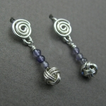 YOJ10-14 Knotted Earrings 2